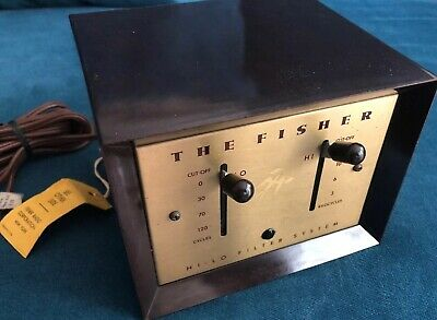 The Fisher Hi Low Filter Equalizer 50-F Rare 50s Vintage Electronics Hifi Record