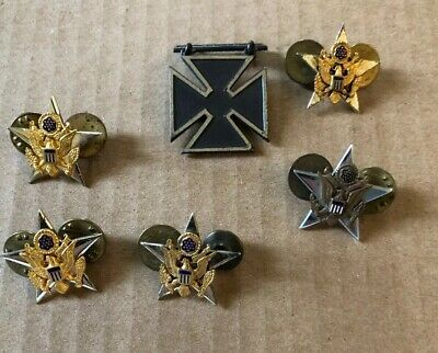 US MILITARY INSIGNIA Pin Set WWII PREMONITE 1st Recon Troop