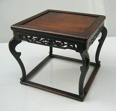 Chinese Qing huanghuali stand in form of a miniature table 18th/19th century