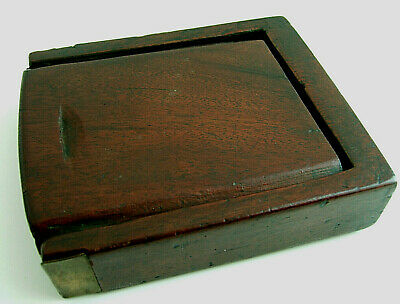 Rare Chinese Huanghuali brass mounted compartmented box Qing