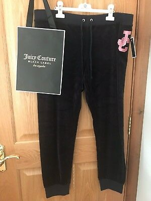 BNWT JUICY COUTURE bottoms Size XL velour bottoms NAVY RRP €180 100%Genuine BNWT