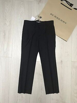 New BURBERRY Boys Trousers RRP £125 7 years Grey School Trousers Classic Bottoms