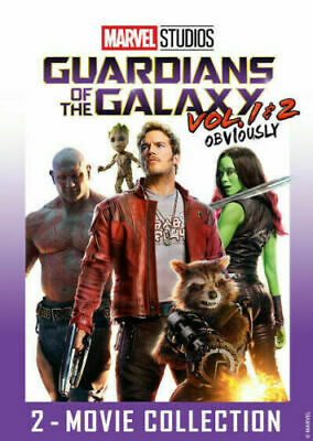 NEW! Guardians of the Galaxy Vol. 1 & 2 DVD(2 Movie Collection 2019) Ships Free!