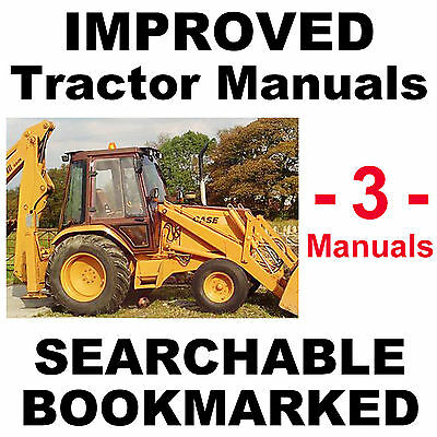 Case 580B 580CK B Tractor TLB SERVICE Manual & 2 PARTS Catalogs -3- MANUALS CD