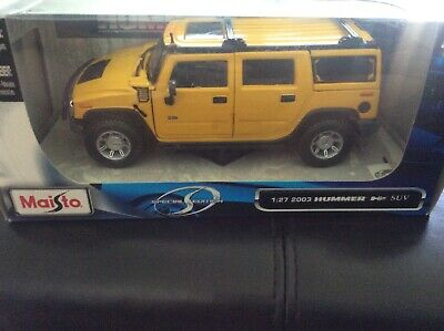 Maisto 2003 Hummer H2 SUV Special Edition GM 1:27 Scale NIB
