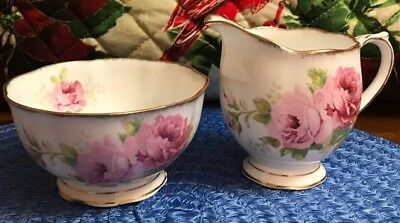 Royal Albert American Beauty Large Cream And Large Sugar  1# Quality England