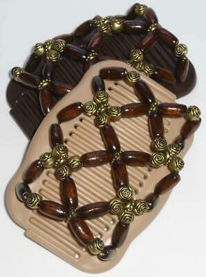 """Angel Wings Hair Clips 4x3.5"""", African Butterfly Style, Double Comb Quality MS97"""