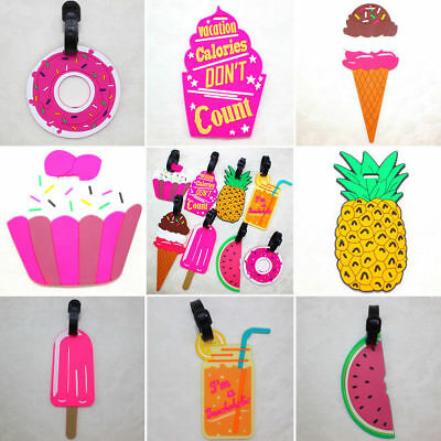 Cartoon Silicone Luggage Tags Baggage Suitcase Name Address Travel ID Tag Labels