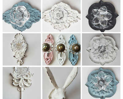 Wall Hook Knob Shabby White Chic Wall DIY Vintage Antique Shipping from Aus