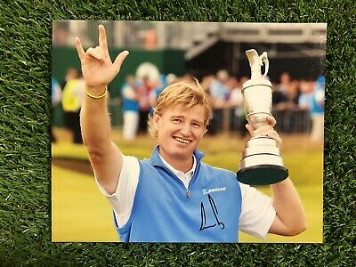 ERNIE ELS GOLF THE OPEN CHAMPION 2002 2012 HAND SIGNED AUTHENTIC 10x8 PHOTO COA