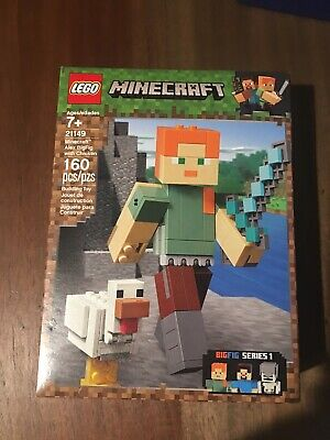 *LEGO MINECRAFT ALEX* BigFig with Chicken 21149 Building Kit 160 Piece Unopened