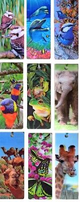 3D BOOKMARKS - Incredible Moving Images - Great Gift for Booklovers- Adults Kids