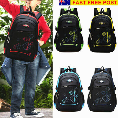 AU Children Large School Backpack Kids Boys Girls Shoulder Bookbag Handbag Tote