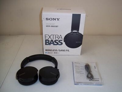 Sony MDR-XB650BT Bluetooth Extra Bass Headphones - Black (AS IS Parts or Repair)