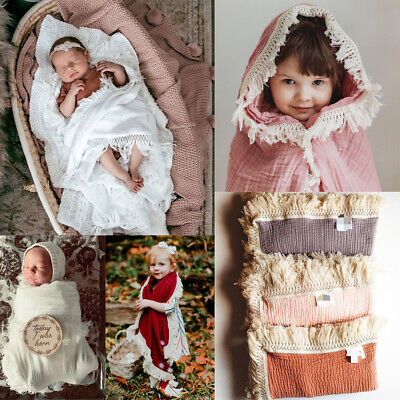 AU Cotton Soft Baby Infant Newborn Girl Swaddle Wrap Blanket Sleeping Bag Cloth