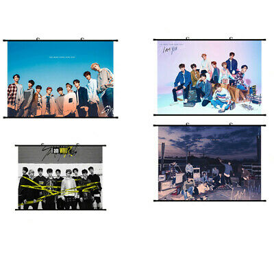 Hot Kpop Stray Kids Scroll Painting Hanging Poster [I am YOU、I am WHO] Fans