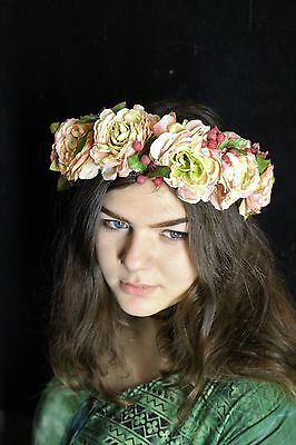 Floral Headband, Head Crowns, vintage, festival, Bohemian, bride, wedding