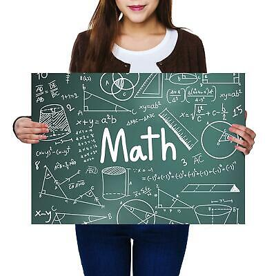 A2 | Math Equations Chalkboar Size A2 Poster Print Photo Art Student Gift #14464