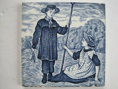 "6"" Wedgwood Months Of The Year (Old English) Victorian Tile - June"