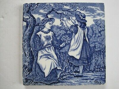 "6"" Wedgwood Months Of The Year (Old English) Victorian Tile - May"