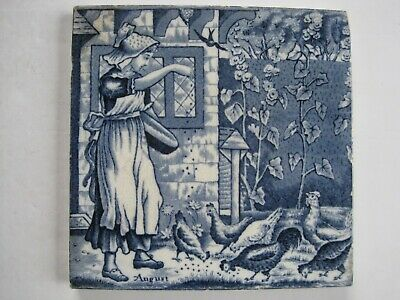"6"" Wedgwood Months Of The Year (Old English) Victorian Tile - August"