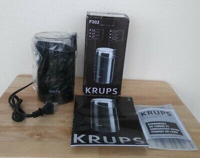 KRUPS F203 Black Electric Coffee and Spice Grinder with Stainless Steel Blades