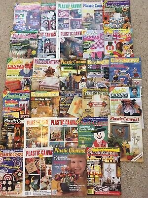 Lot of 29 Plastic Canvas Magazines