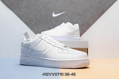 2018 Air Force 1 07 lv8 Utility Shoes Mens Black/White Sports shoes 36-45