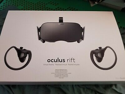 Oculus Rift + Touch Virtual Reality w/ Two Motion Controllers, Two Sensors New