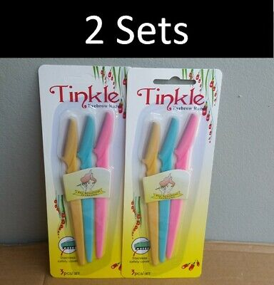 6x Tinkle Facial Eyebrow Razor Trimmer Shaper Shaver Blade Knife Hair Remover