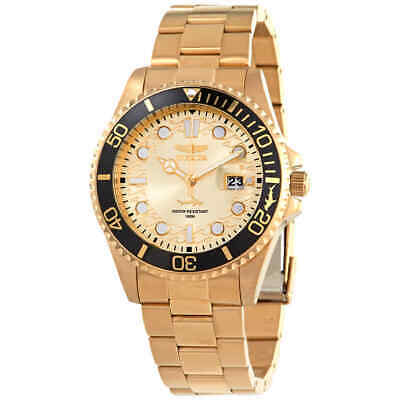 Invicta Pro Diver Champagne Dial Yellow Gold-tone Men's Watch 30025