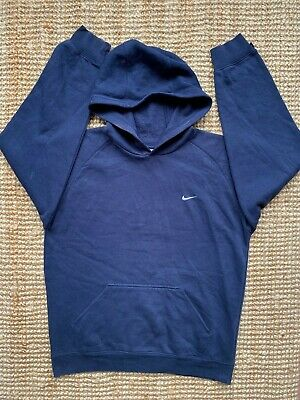 VINTAGE Childrens ** NIKE ** Hoodie Jacket Blue Large L (Age 12-13) Mens Small S