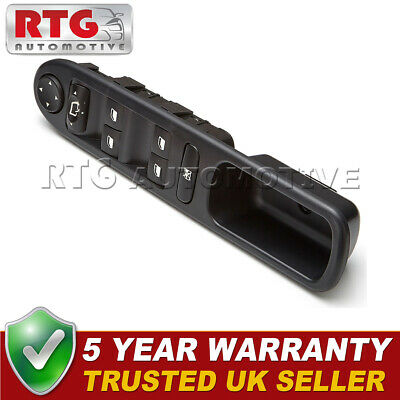 Electric Master Window Control Switch Panel Front Right Fits Peugeot 307 2.0 HDI