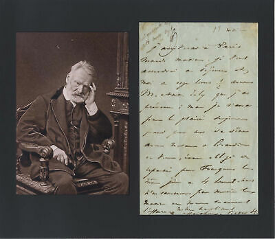 FRENCH POET Victor Hugo autograph, handwritten letter signed