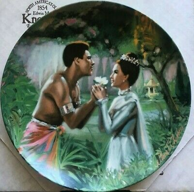 We Kiss In A Shadow LE 10929 The King /& I Collectible Plate 1985 Edwin M Knowles