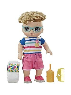 Baby Alive Step 'N Giggle Baby Blonde Hair Boy Doll with Light Up Shoes Kids Toy