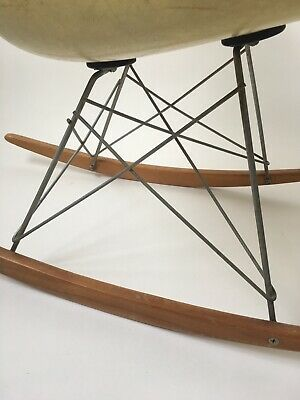 All orig. 1st Gen. Zenith Eames Herman Miller Rope Edge Fiberglass Rocking Chair