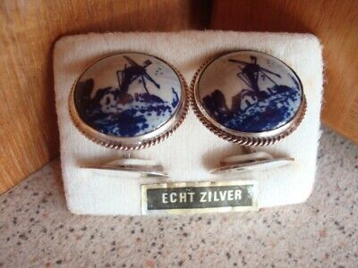 Vintage Dutch Windmill Cuff Links
