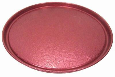 Round Bar Drink Serving Tray 60s Anodised Aluminium Strawberry Red 32 cm