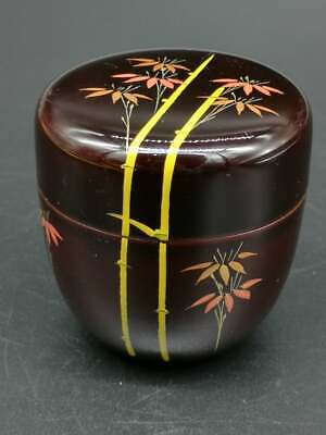 Japanese Lacquer Tea CADDY Container / Tea Container Bamboo 01