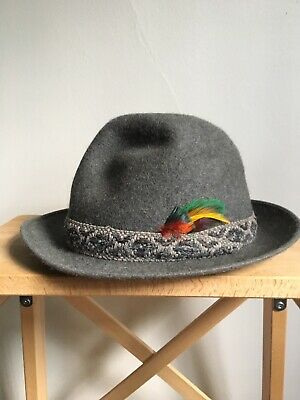 Vintage Royal Stetson Wagtail Grey Field Club Hat Size 6 5/8 Small Pure Fur Felt