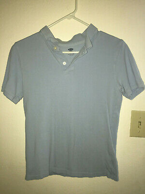 Old Navy XL 14 16 Blue Short Sleeve Polo Shirt Boys 100% cotton