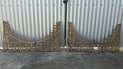 Set of Ornate Cast Iron Arches (comes in four pieces) Antique Vintage