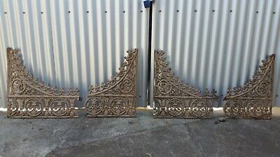 Set of Ornate Cast Iron Lacework Arches (comes in four pieces) Antique Vintage