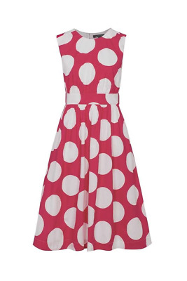 Emily and Fin Pink with White Giant Polka Lucy Dress Long