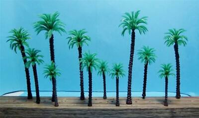 Model Coconut Palm Trees Multi Scale Use 12 Piece Assortment in 4 Sizes