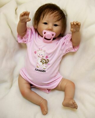 """Reborn Dolls 22"""" Real Life Realistic Kids RealisticToddler Birthday Gifts"""