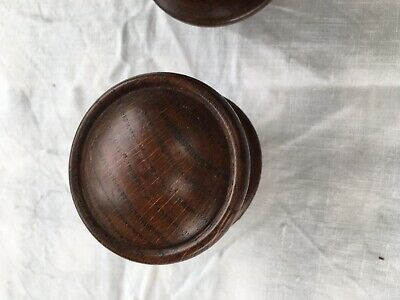 12 Early Antique Oak Drawer Knobs