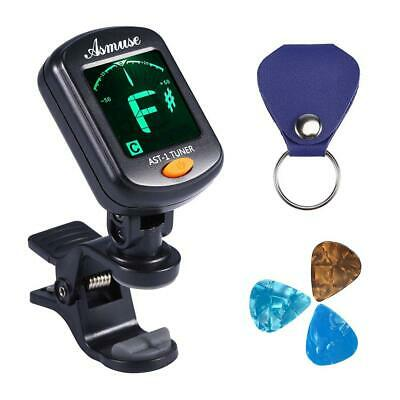Asmuse Guitar Auto Tuner Clip On Chromatic Digital Electronic 5 Modes...