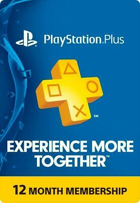 Playstation Plus 12 months PSN US Membership - 5% off see subtitle